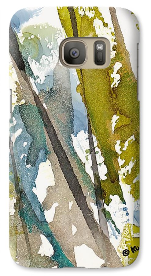 Forest Galaxy S7 Case featuring the painting Tall Timber by Susan Kubes