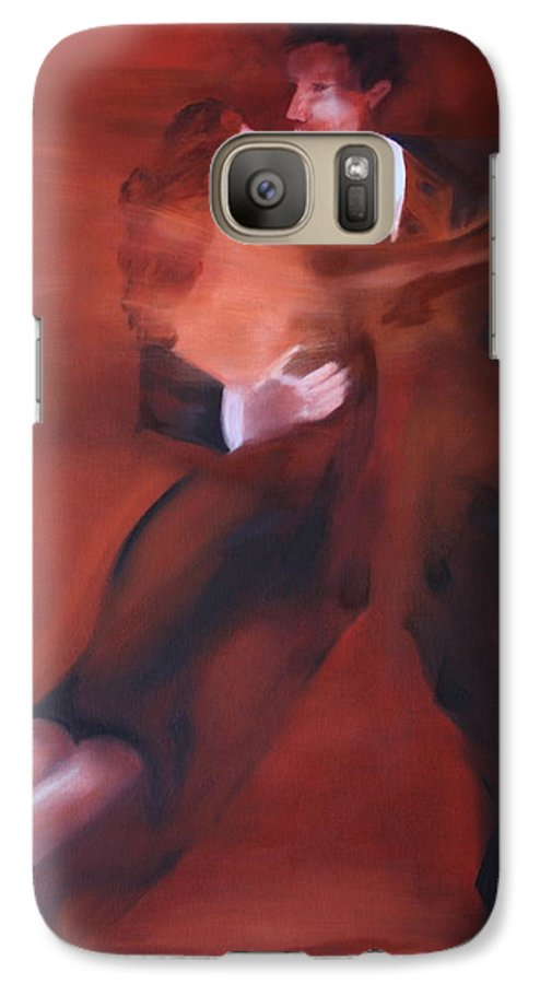 Tango Galaxy S7 Case featuring the painting Tango No.1 by Harri Spietz