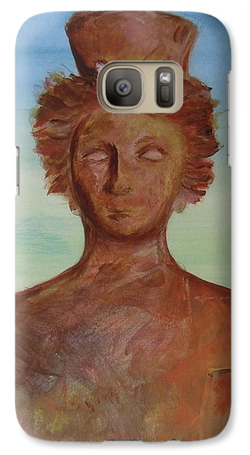 Icon Galaxy S7 Case featuring the painting Tanit Mythical Godess Of Ibiza by Lizzy Forrester
