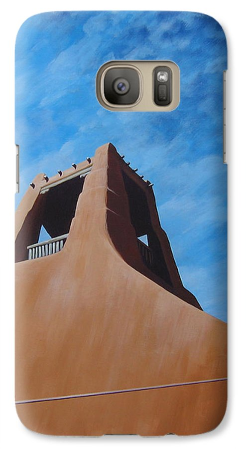 Taos Galaxy S7 Case featuring the painting Taos Memory by Hunter Jay