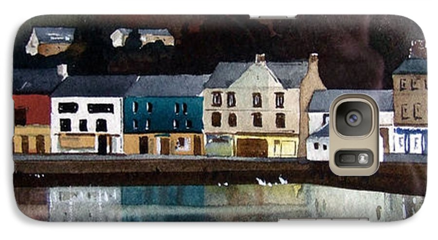 Landscape Galaxy S7 Case featuring the painting Tarbert Reflections by Paul Dene Marlor