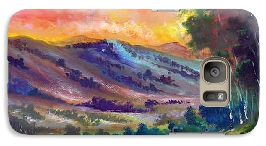 Landscape Galaxy S7 Case featuring the painting Tarde De Sol by Leomariano artist BRASIL