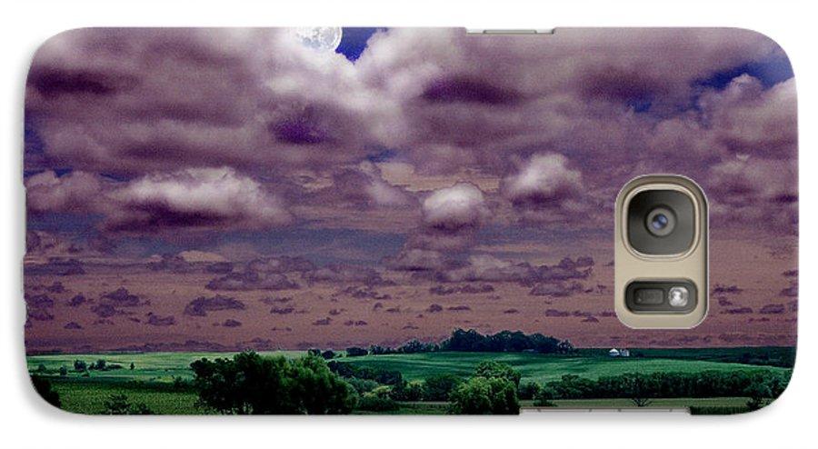 Landscape Galaxy S7 Case featuring the photograph Tarkio Moon by Steve Karol