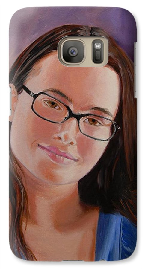 Portrait Galaxy S7 Case featuring the painting Taryn Snow by Quwatha Valentine