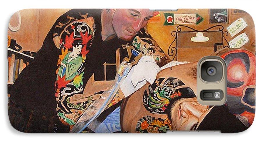 Portrait Galaxy S7 Case featuring the painting Tattoo Artist by Quwatha Valentine