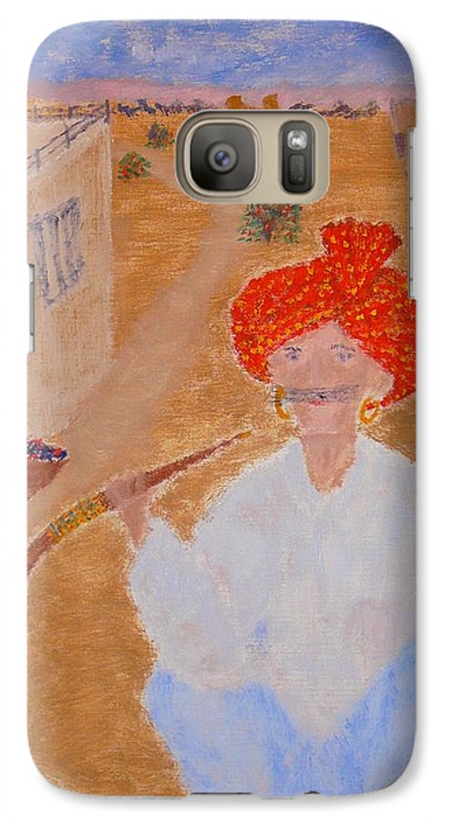 People Galaxy S7 Case featuring the painting Tau by R B