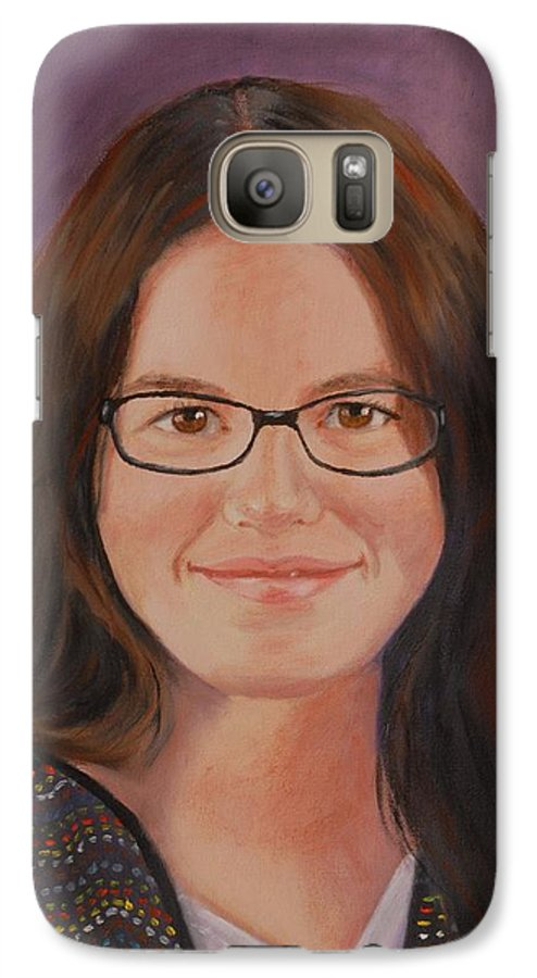 Portrait Galaxy S7 Case featuring the painting Taylor Snow by Quwatha Valentine