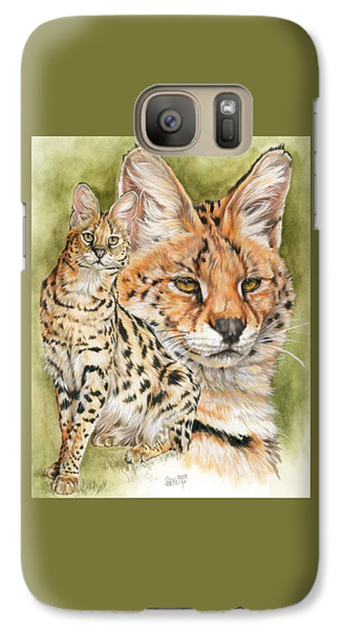 Serval Galaxy S7 Case featuring the mixed media Tempo by Barbara Keith