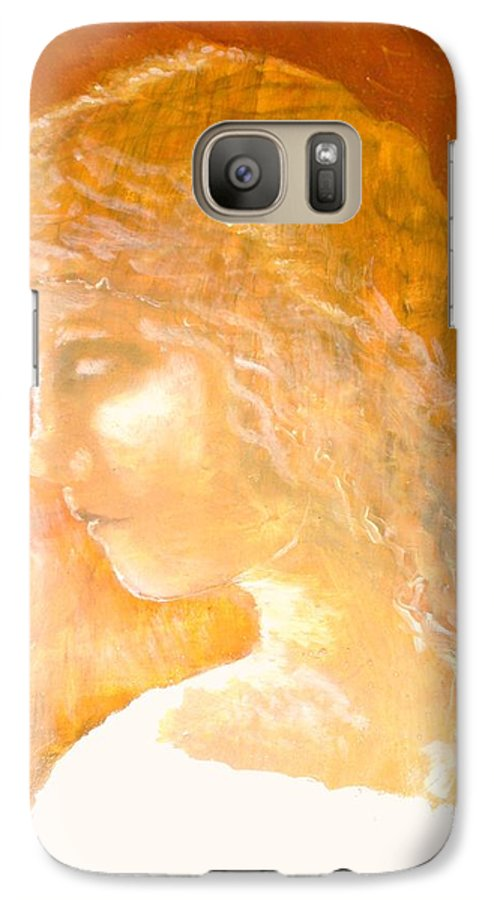 Angel Galaxy S7 Case featuring the painting Tender Mercy by J Bauer