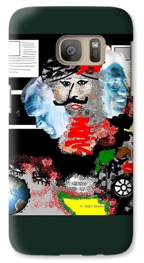 Digital Art Galaxy S7 Case featuring the digital art Terror by R B