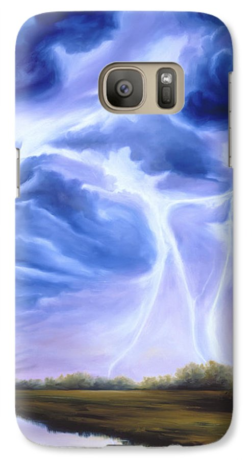 Marsh Galaxy S7 Case featuring the painting Tesla by James Christopher Hill