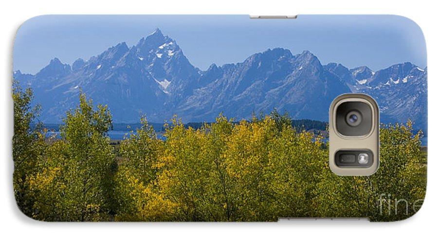 Teton Galaxy S7 Case featuring the photograph Teton Range by Idaho Scenic Images Linda Lantzy