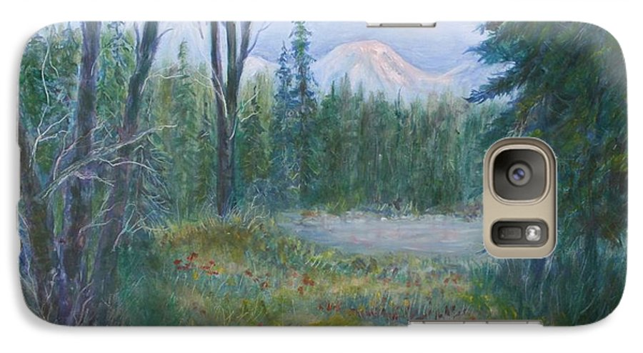 Landscape Galaxy S7 Case featuring the painting Teton Valley by Ben Kiger
