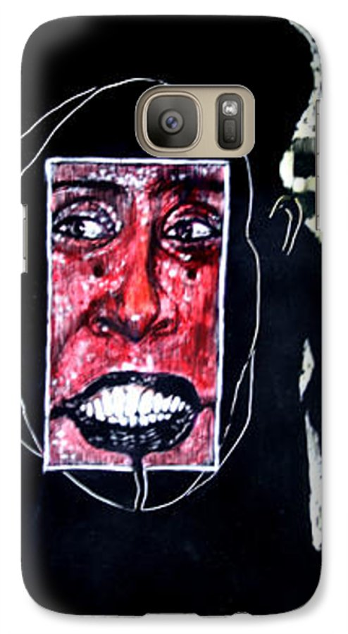 Smile Galaxy S7 Case featuring the mixed media That Certian Smile by Chester Elmore