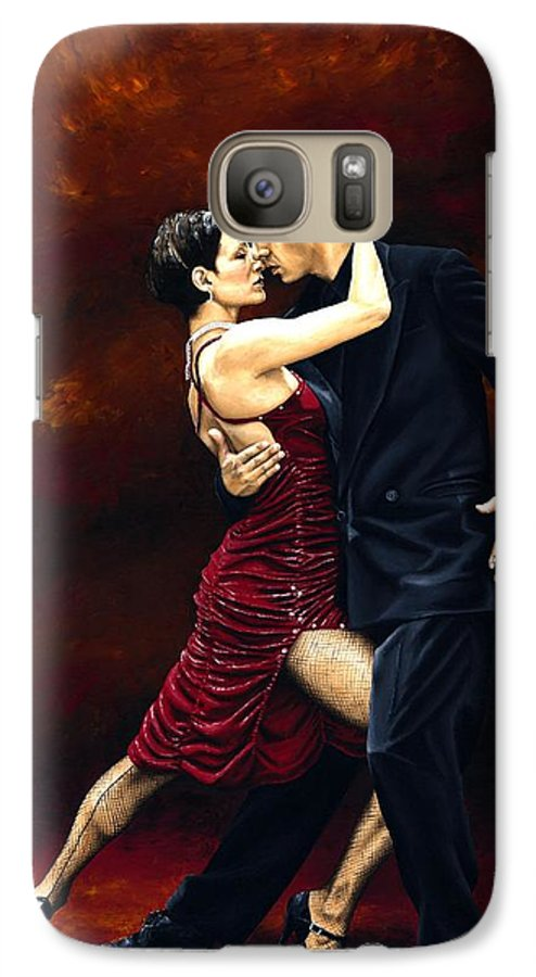 Tango Galaxy S7 Case featuring the painting That Tango Moment by Richard Young