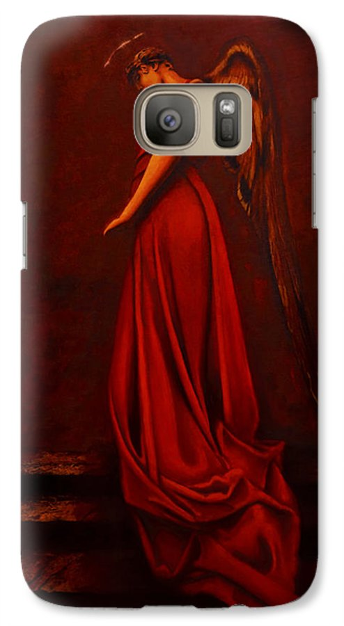 Giorgio Galaxy S7 Case featuring the painting The Angel Of Love by Giorgio Tuscani