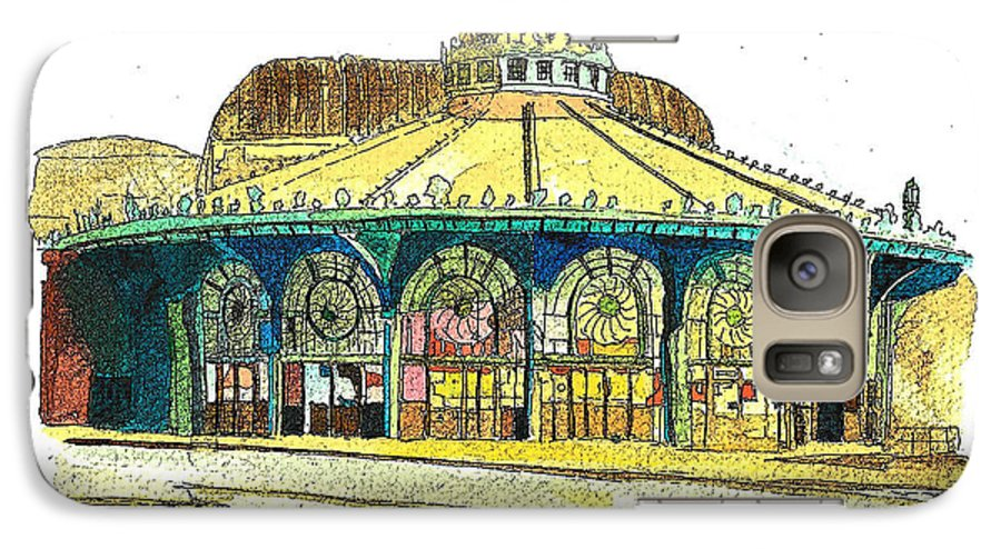 Asbury Art Galaxy S7 Case featuring the painting The Asbury Park Casino by Patricia Arroyo