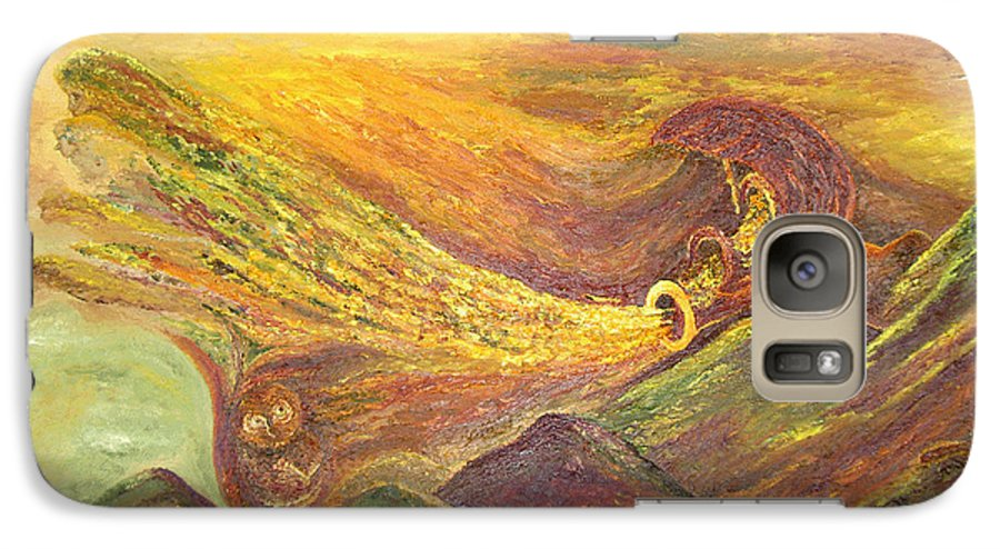 Autumn Galaxy S7 Case featuring the painting The Autumn Music Wind by Karina Ishkhanova