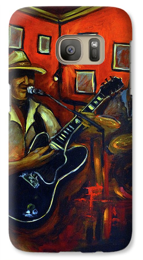 Blues Galaxy S7 Case featuring the painting The Back Room by Valerie Vescovi