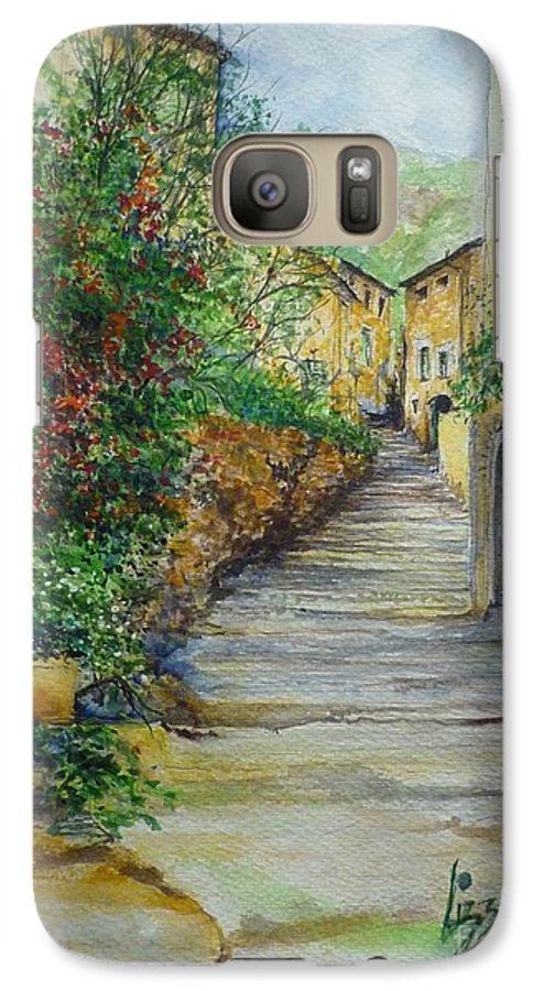 Original Paintings Of Mallorca Galaxy S7 Case featuring the painting The Balearics Typical Spain by Lizzy Forrester
