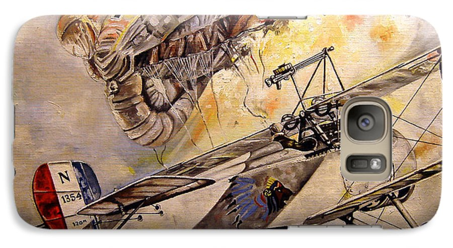 Military Galaxy S7 Case featuring the painting The Balloon Buster by Marc Stewart