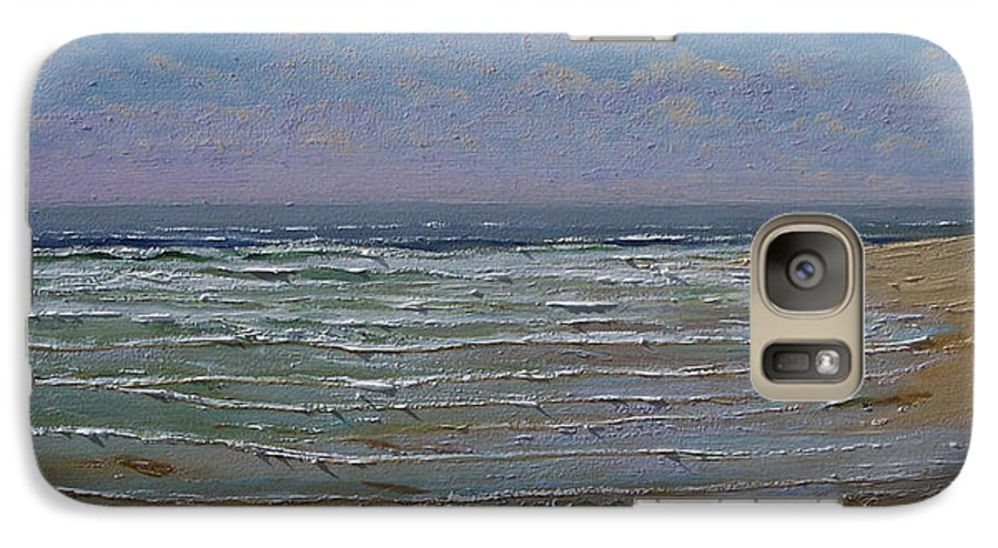 Seascape Galaxy S7 Case featuring the painting The Beachcomber by Frank Wilson
