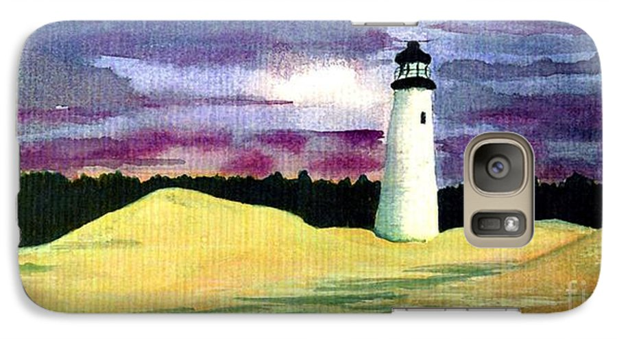 Fine Art Galaxy S7 Case featuring the painting The Beacon by Patricia Griffin Brett