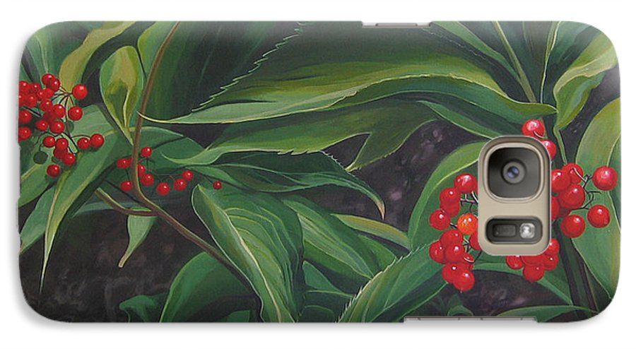 Berries Galaxy S7 Case featuring the painting The Berries On Guanella Pass by Hunter Jay