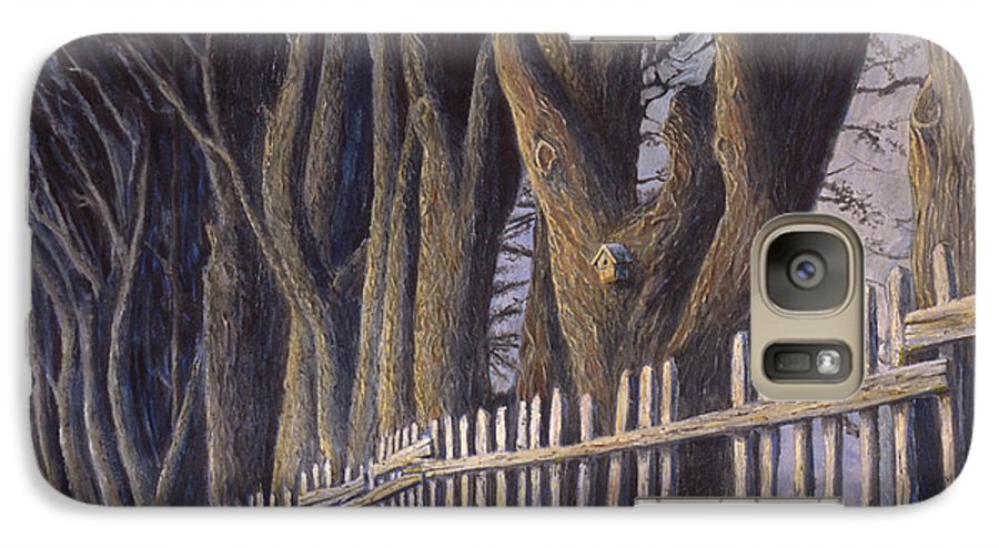 Bird House Galaxy S7 Case featuring the painting The Bird House by Jerry McElroy