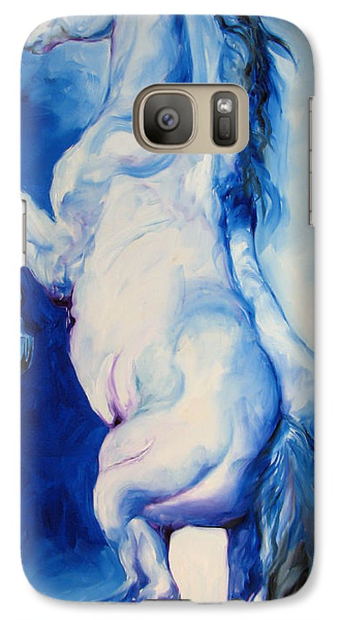 Horse Galaxy S7 Case featuring the painting The Blue Roan by Marcia Baldwin