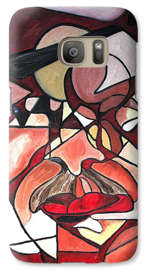 Abstract Galaxy S7 Case featuring the painting The Brain Surgeon by Patricia Arroyo