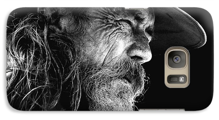 Australian Bushman Hat Galaxy S7 Case featuring the photograph The Bushman by Avalon Fine Art Photography