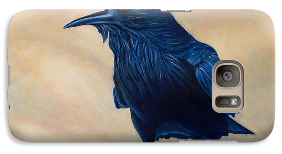 Raven Galaxy S7 Case featuring the painting The Conversation by Brian Commerford