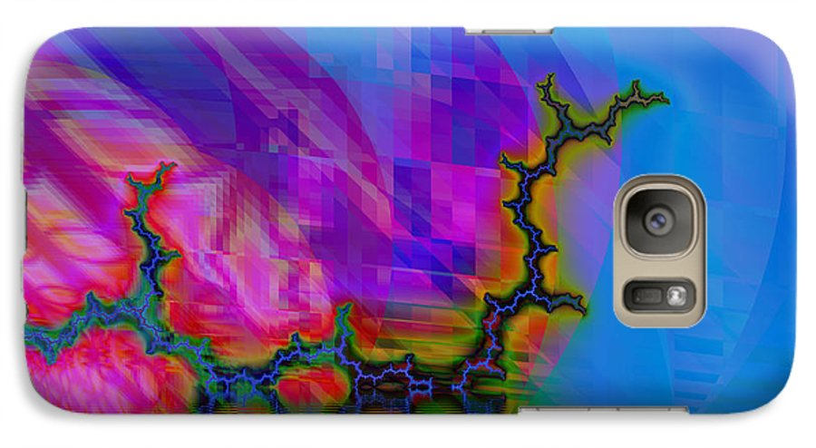 Fractal Galaxy S7 Case featuring the digital art The Crawling Serpent by Frederic Durville