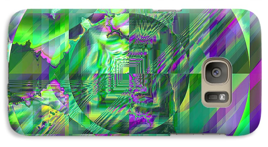 Fractal Galaxy S7 Case featuring the digital art The Crazy Fractal by Frederic Durville