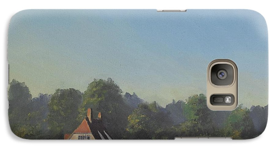 Landscape Trees Galaxy S7 Case featuring the painting The Crooked Billet by Richard Picton