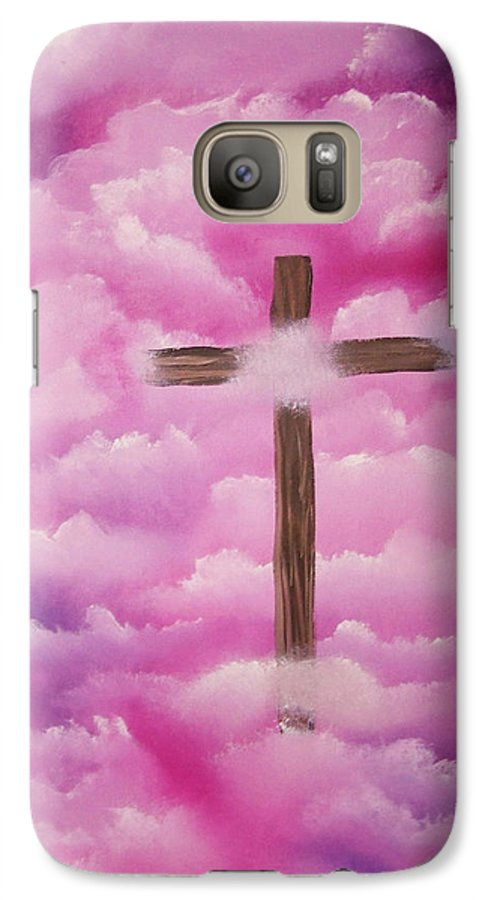 Cross Artwork Galaxy S7 Case featuring the painting The Cross Of Redemption by Laurie Kidd