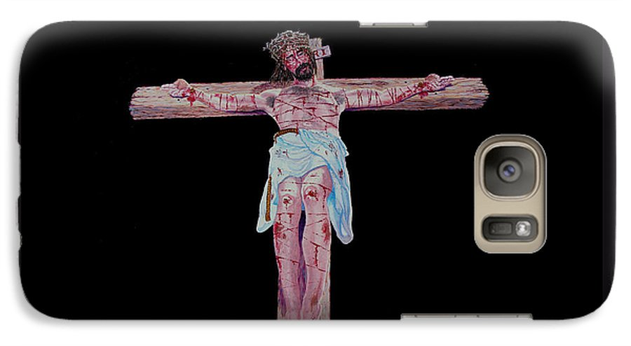 Crucifixion Galaxy S7 Case featuring the painting The Crucifixion by Stan Hamilton