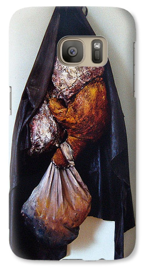 Acrylic Galaxy S7 Case featuring the painting The Curtain by Nancy Mueller