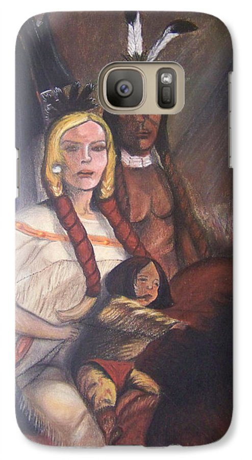 Artwork Galaxy S7 Case featuring the painting The Cynthia Ann Parker Family by Laurie Kidd