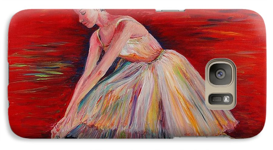 Dancer Galaxy S7 Case featuring the painting The Dancer by Nadine Rippelmeyer
