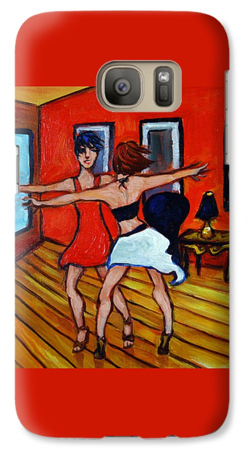 Dancers Galaxy S7 Case featuring the painting The Dancers by Valerie Vescovi