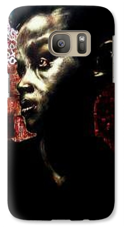 Portrait Galaxy S7 Case featuring the mixed media The Day We First Met by Chester Elmore