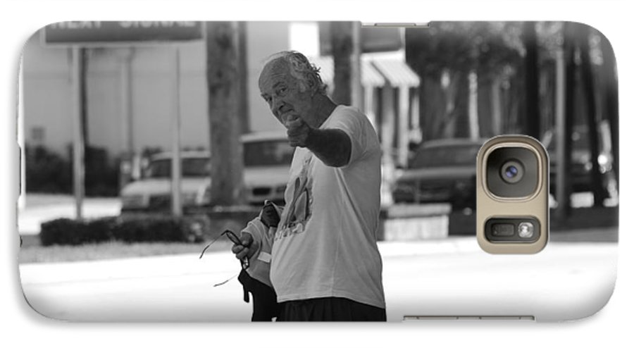 Black And White Galaxy S7 Case featuring the photograph The Devil Man by Rob Hans