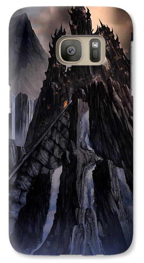 Architectural Galaxy S7 Case featuring the mixed media The Dragon Gate by Curtiss Shaffer