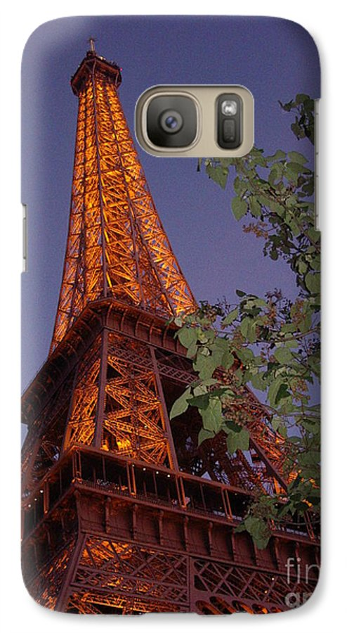 Tower Galaxy S7 Case featuring the photograph The Eiffel Tower Aglow by Nadine Rippelmeyer