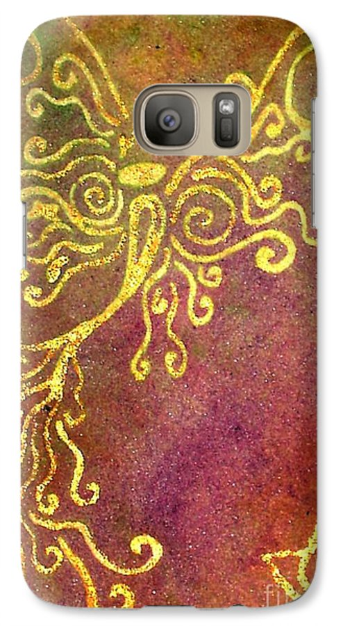 Fairy's Galaxy S7 Case featuring the painting The Fairy Prince by Chandelle Hazen