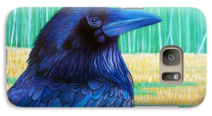 Raven Galaxy S7 Case featuring the painting The Field Of Dreams by Brian Commerford