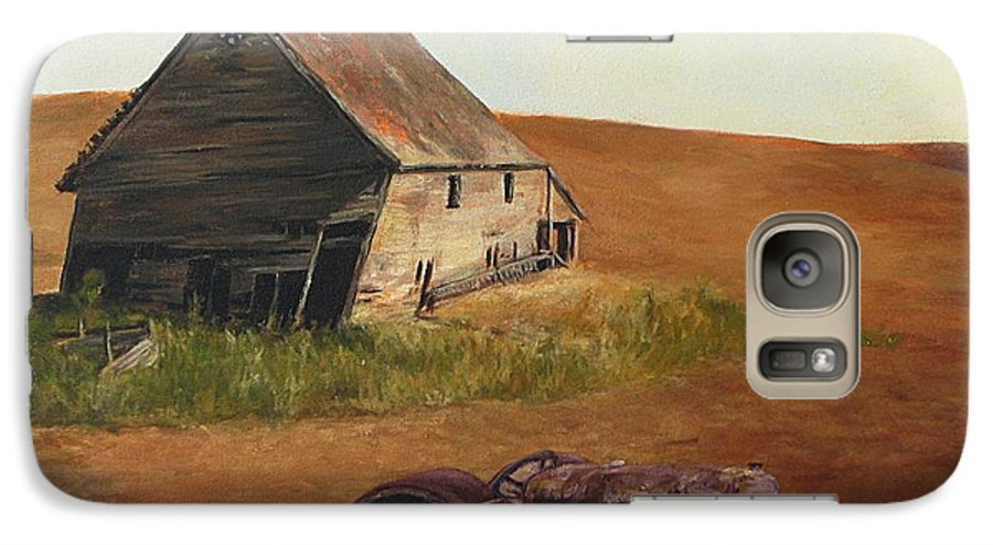 Oil Paintings Galaxy S7 Case featuring the painting The Forgotten Farm by Chris Neil Smith