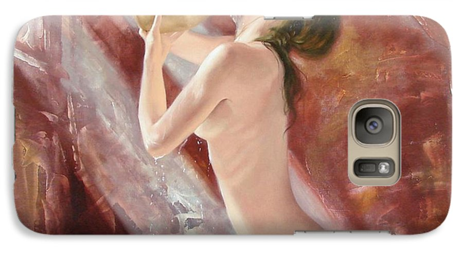 Oil Galaxy S7 Case featuring the painting The Freshness by Sergey Ignatenko